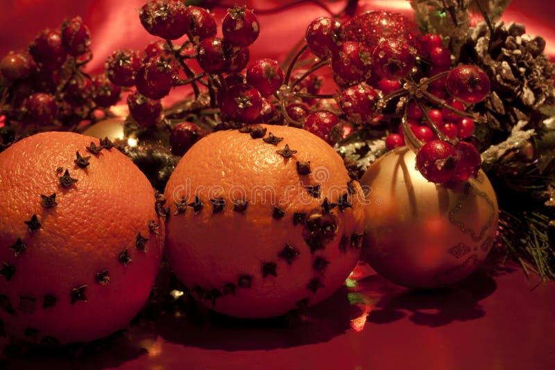 Naranjas de la Navidad fotos de archivo