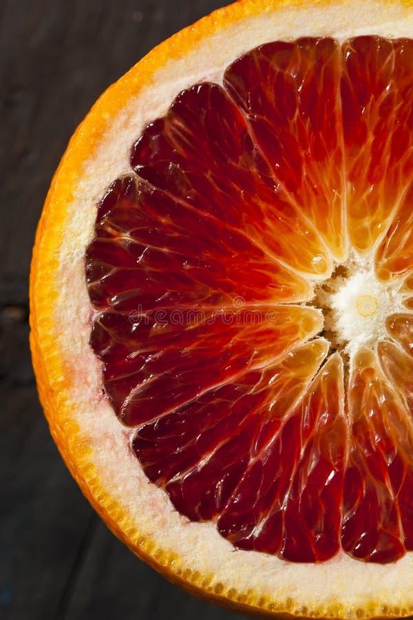 Naranjas de sangre rojas crudas orgánicas fotografía de archivo libre de regalías