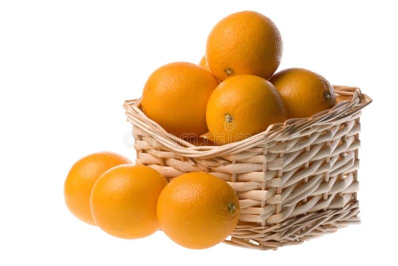 Naranjas en una cesta fotografía de archivo libre de regalías