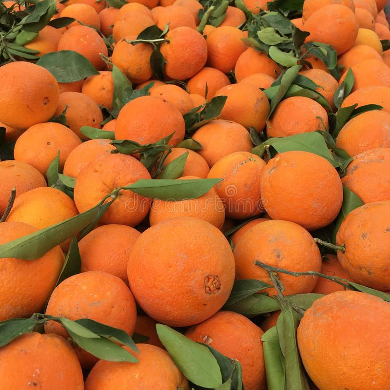 Naranjas orgánicas fotos de archivo