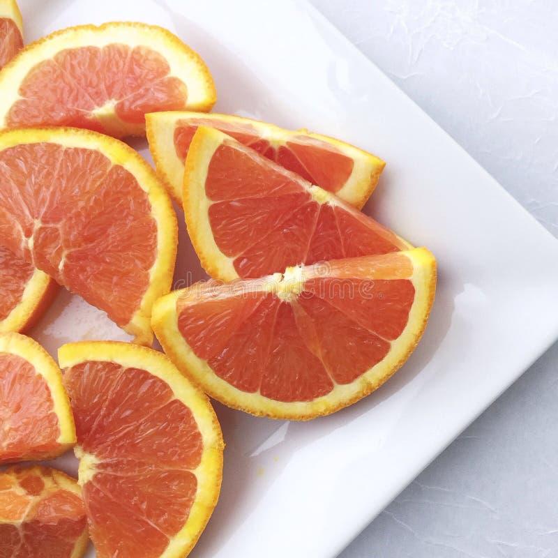 Naranjas rebanadas foto de archivo libre de regalías
