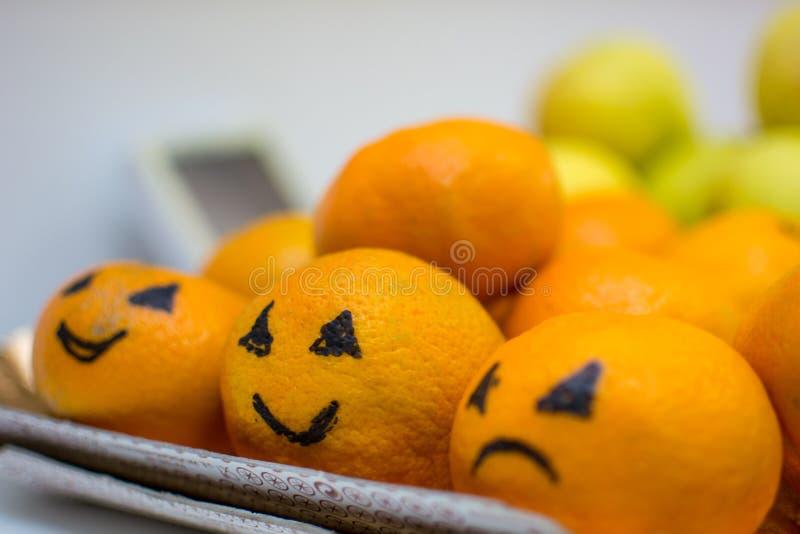 Naranjas sonrientes imágenes de archivo libres de regalías