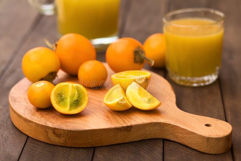 Naranjilla lub Lulo owoc zdjęcie stock