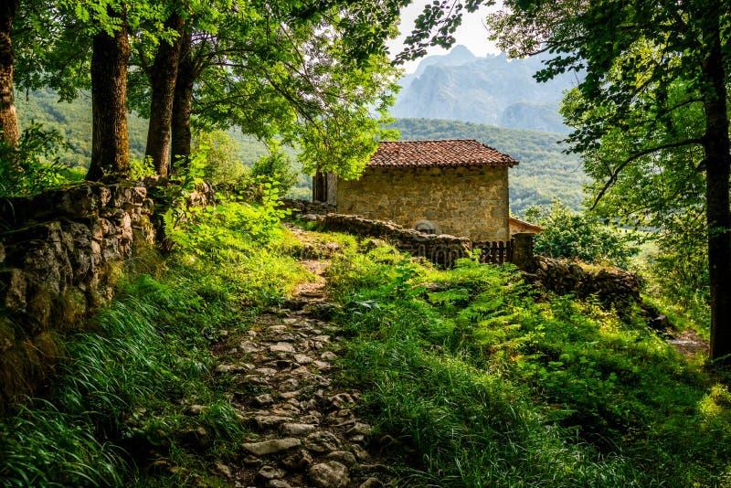 Naranjo DE Bulnes als Picu Urriellu in Asturias, Spanje wordt bekend dat stock afbeelding
