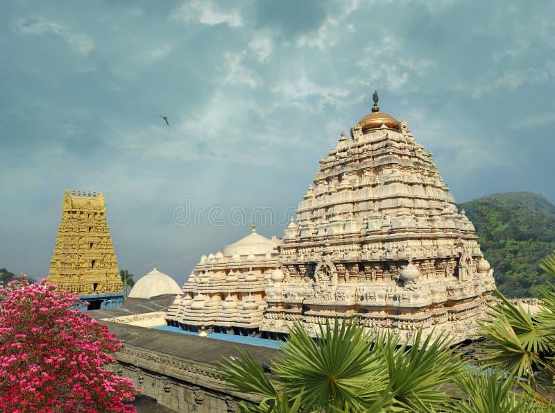 Narasimha temle i Simhachalam royaltyfri fotografi