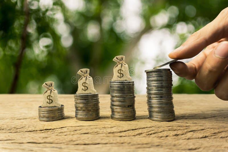 Narastająca czas wartość pieniądze, inwestycja, bogactwa pieniężny pojęcie fotografia stock