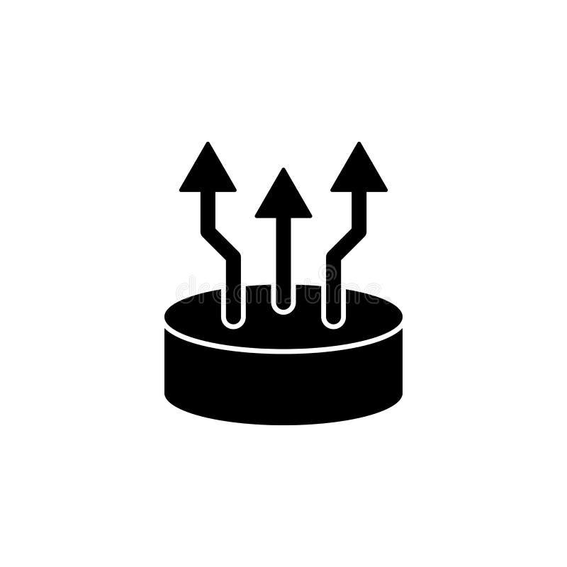 Narastająca prętowego wykresu ikona w czerni na białym tle również zwrócić corel ilustracji wektora ilustracja wektor