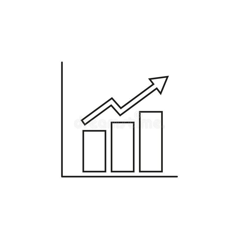 Narastająca rozkład ikona ilustracji
