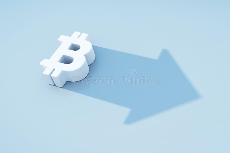 Narastający bitcoin symbol ilustracja wektor