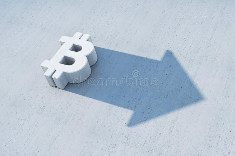 Narastający bitcoin symbol royalty ilustracja