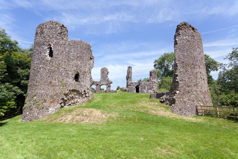 Narberth城堡废墟 库存照片