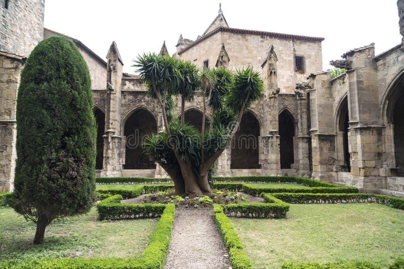 Narbonne (France), cloître de cathédrale image stock