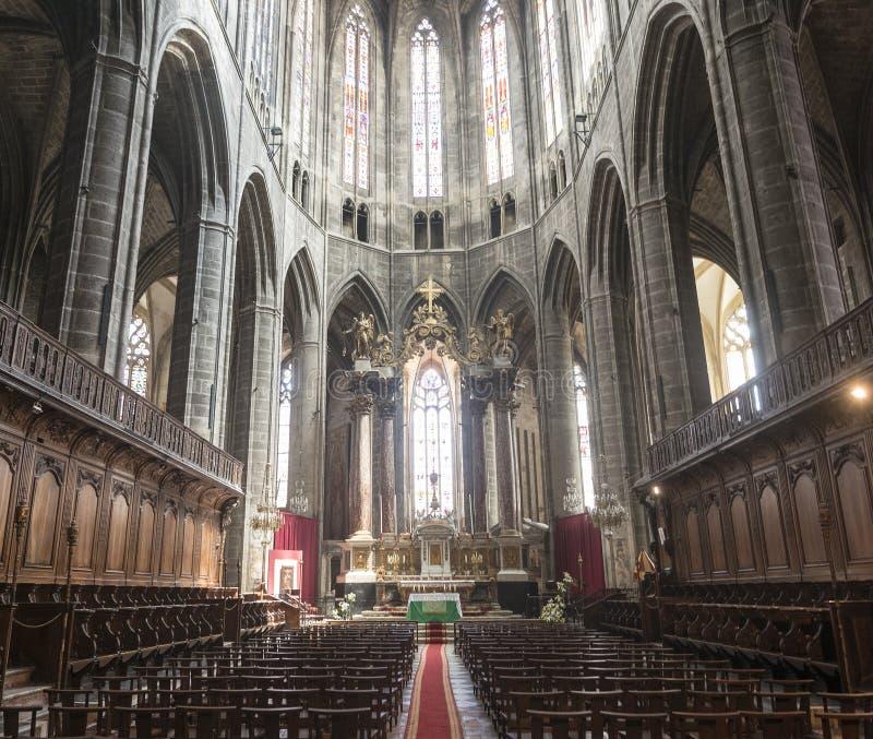 Narbonne, intérieur de cathédrale photos stock