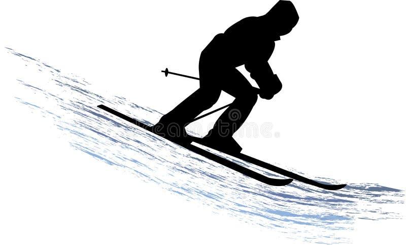 narciarka śnieg royalty ilustracja