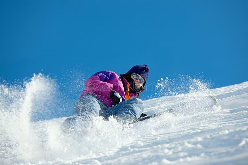 narciarka fotografia royalty free