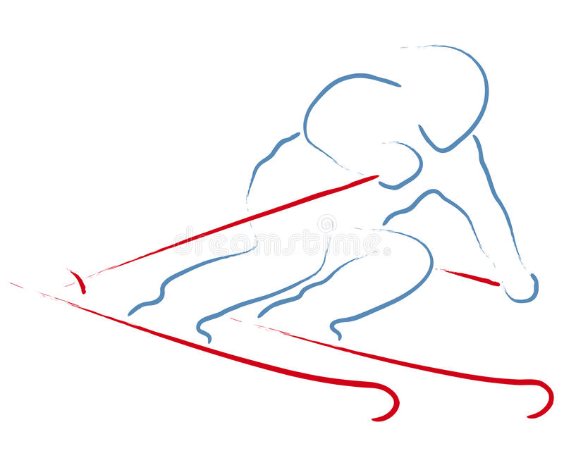 narciarka ilustracja wektor