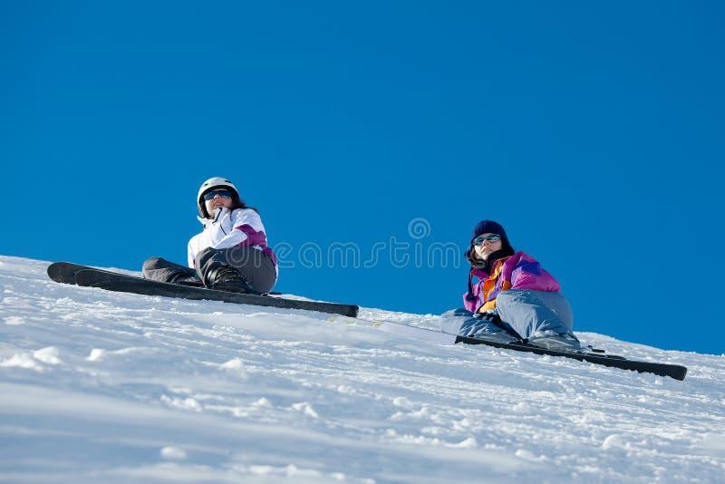 narciarki zdjęcia stock