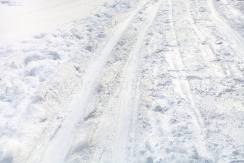 Narciarscy bieg na śnieżnym polu zdjęcie royalty free