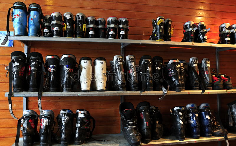 Narciarscy buty obrazy stock