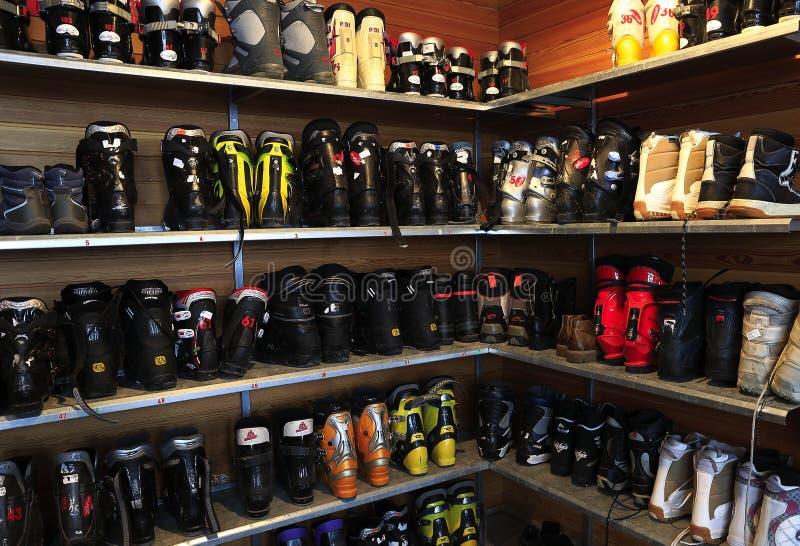 Narciarscy buty obrazy royalty free