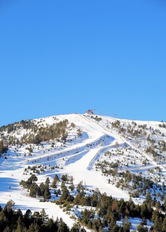 Narciarscy skłony los angeles Serra, Vallnord sektor narciarstwo kumpel ksiąstewko Andorra, Europa obrazy royalty free