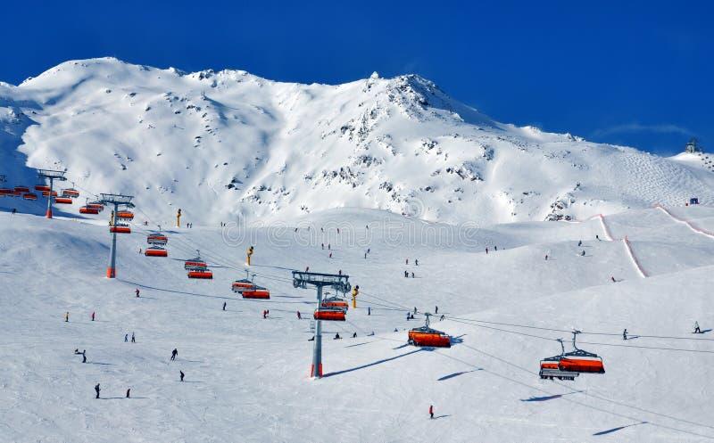 narciarscy skłony Solden obraz stock