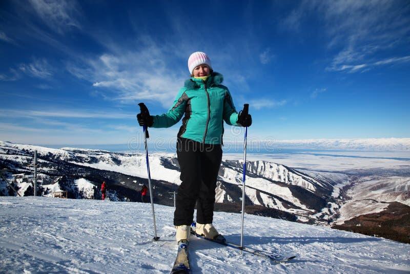 narciarska kurort kobieta obrazy stock