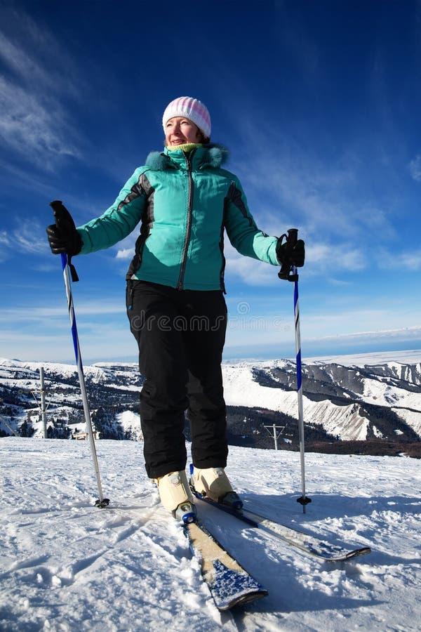 narciarska kurort kobieta obrazy royalty free