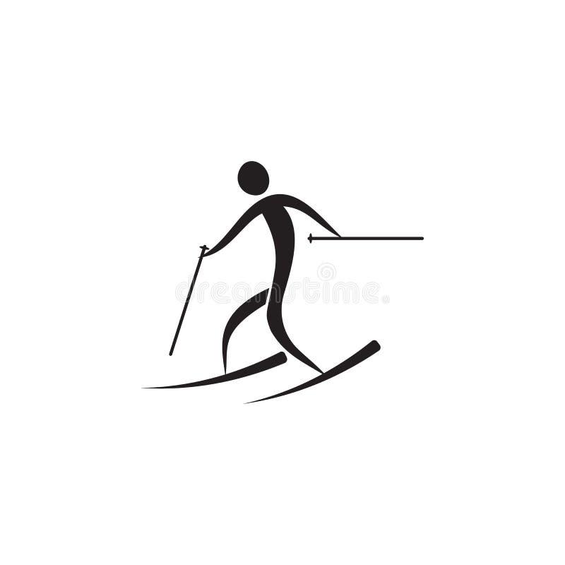narciarska Sprint ikona Elementy sportowiec ikona Premii ilości graficznego projekta ikona Znaki i symbol inkasowa ikona dla stro ilustracji