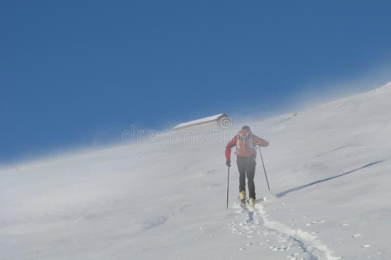 Narciarski alpinista zdjęcia royalty free