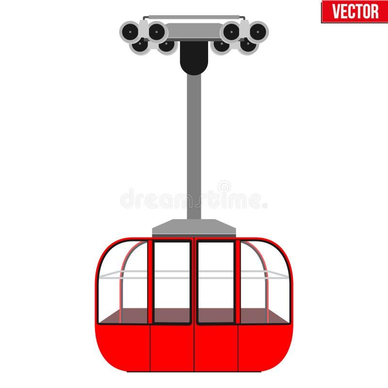 Narciarskiego dźwignięcia gondola ilustracja wektor