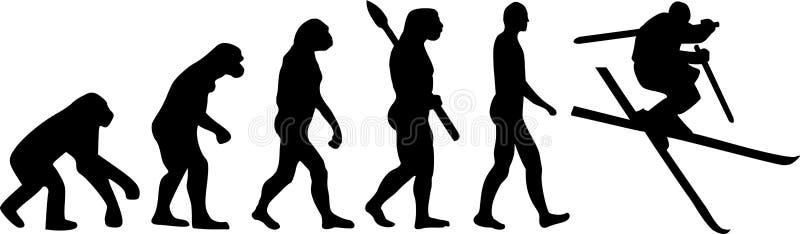 Narciarskiego skoku ewolucja royalty ilustracja