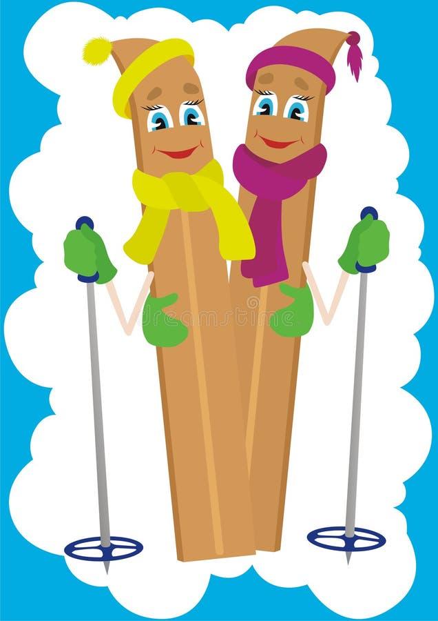 narciarstwo royalty ilustracja