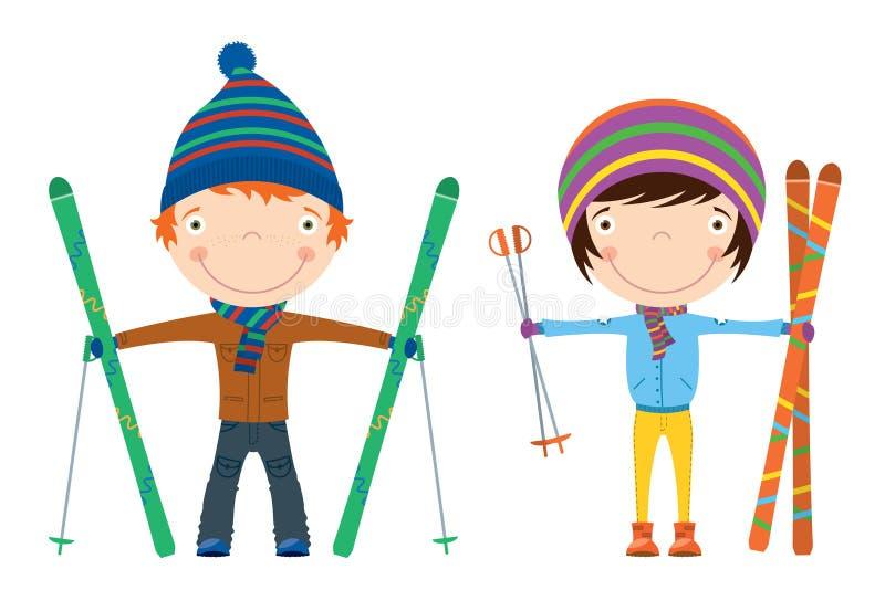 narciarstwo ilustracja wektor