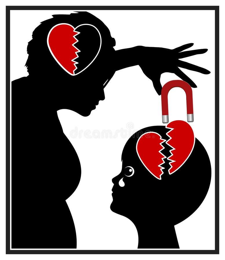 Narcissistisk moder stock illustrationer
