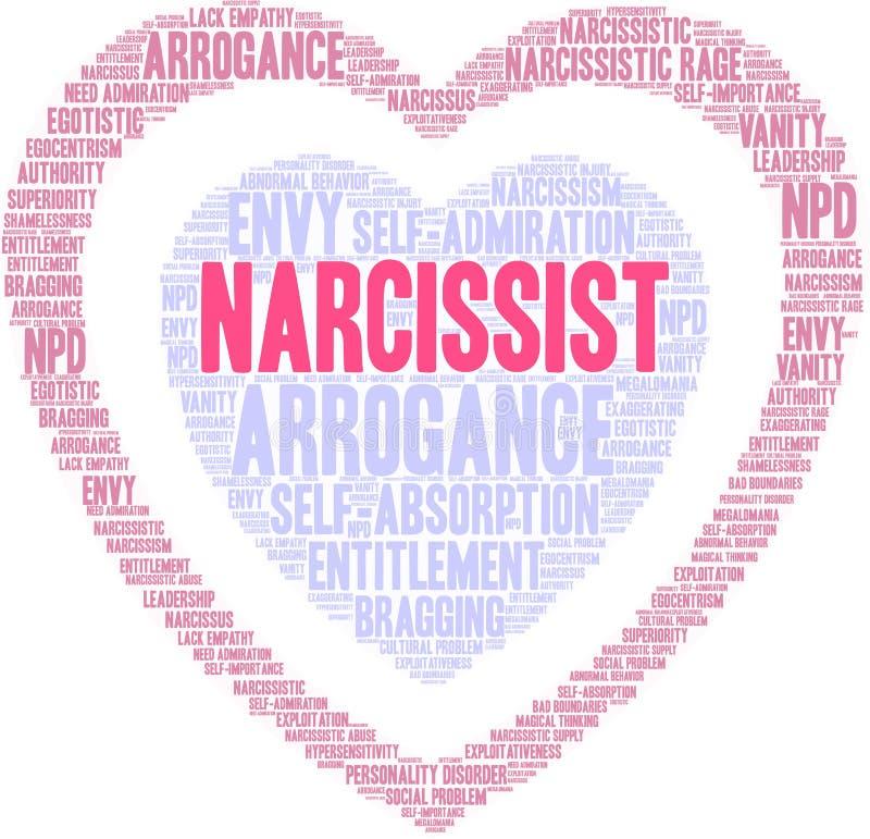 Narcissistword Wolk vector illustratie