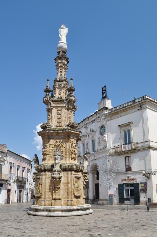 Nardo广场,普利亚,意大利。 免版税库存图片