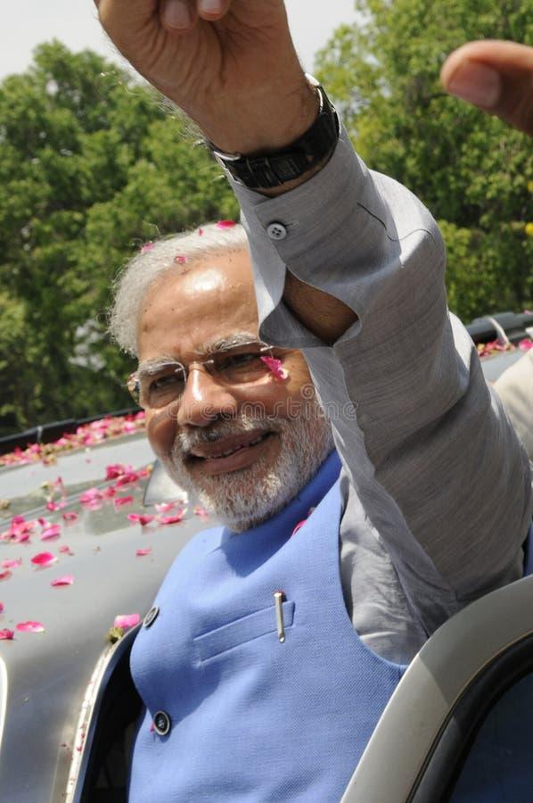 Narendra Modi在德里 免版税库存图片