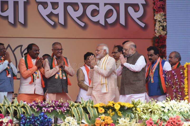 Narendra Modi i Bhopal royaltyfri foto