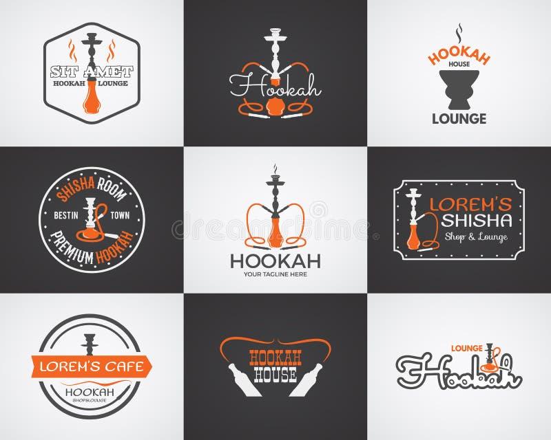 Nargile etykietki, odznaki i projektów elementy, ilustracji