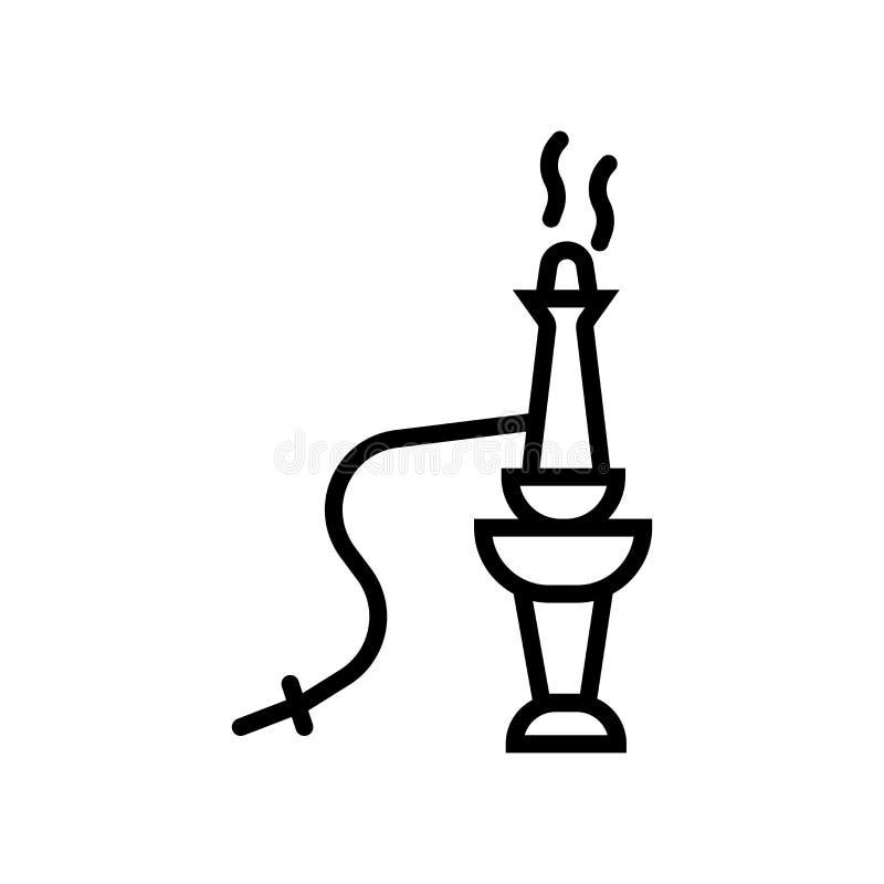 Nargile ikony wektor odizolowywający na białym tle, nargile znak ilustracja wektor