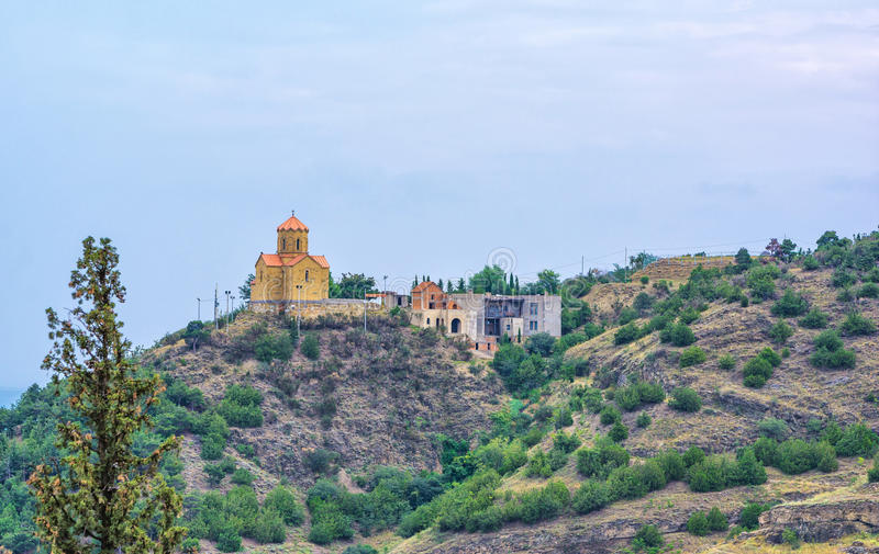 Narikala城堡在第比利斯 库存照片