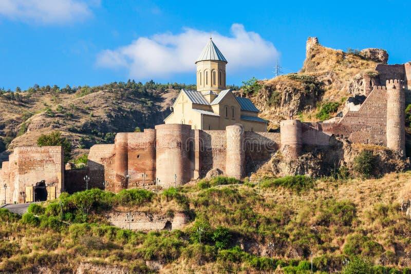 Narikala堡垒,第比利斯 免版税库存图片