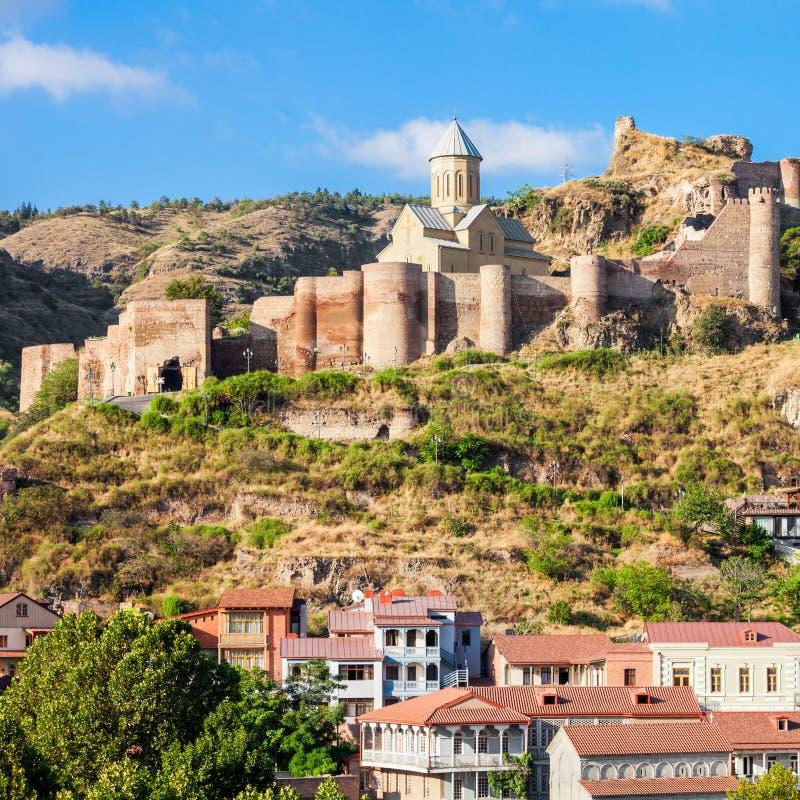Narikala堡垒,第比利斯 免版税库存照片
