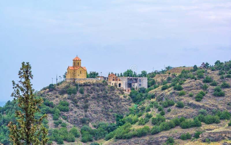 Narikalakasteel in Tbilisi stock foto