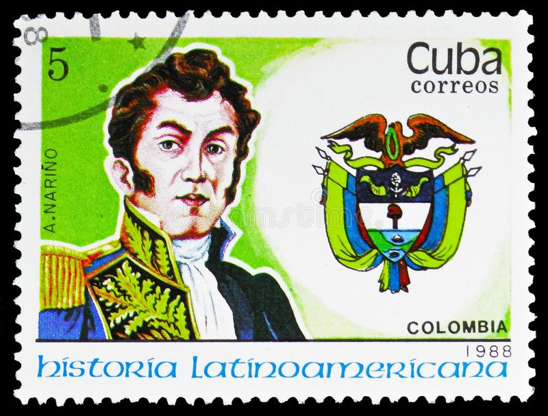 A Narino, Colombia, Latijns-Amerikaanse geschiedenis serie, circa 1988 stock afbeelding