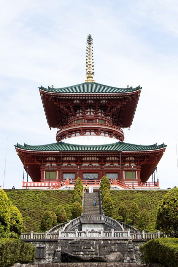 Narita, Ιαπωνία - 3 Μαΐου 2019 Μεγάλη Ειρηνευτική Παγόδα που είναι το κτίριο στο ναό Naritasan shinshoji Αυτός ο ναός είναι το δι στοκ εικόνες με δικαίωμα ελεύθερης χρήσης