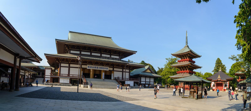 Narita, Chiba, JAPÓN - julio de 2018: el templo del Narita-san Shinshoji tiene historia durante de 1000 años situados en narita c foto de archivo libre de regalías