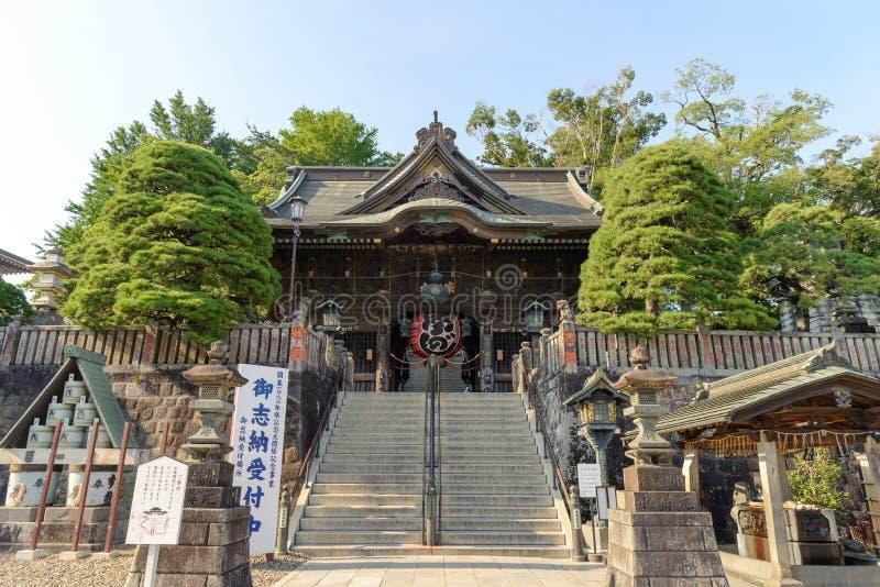Narita, Chiba, JAPAN - Juli, 2018: De tempel van narita-San Shinshoji heeft geschiedenis van meer dan 1000 die jaar in centrale n stock afbeeldingen