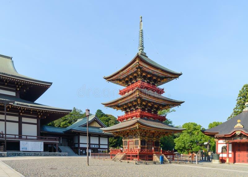 Narita, Chiba, JAPAN - Juli, 2018: De tempel van narita-San Shinshoji heeft geschiedenis van meer dan 1000 jaar stock foto's